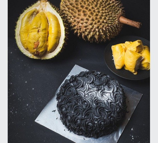 Charcoal Rosette Cake